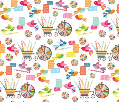 Coloured Pencil Love fabric by kayajoy on Spoonflower - custom fabric
