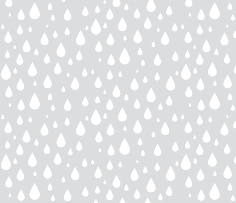 Gray Rain Drops fabric by kansas_vintage on Spoonflower - custom fabric