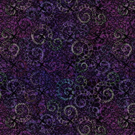 wild_diamonds_purples fabric by glimmericks on Spoonflower - custom fabric