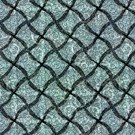 wild_diamonds_oceans fabric by glimmericks on Spoonflower - custom fabric