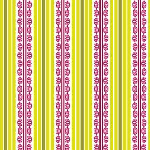 Lotus Stripes Pink