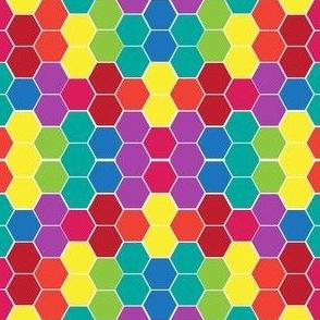 Rainbox Hexagons