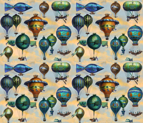 Aviation Flotation II fabric by bzbdesigner on Spoonflower - custom fabric