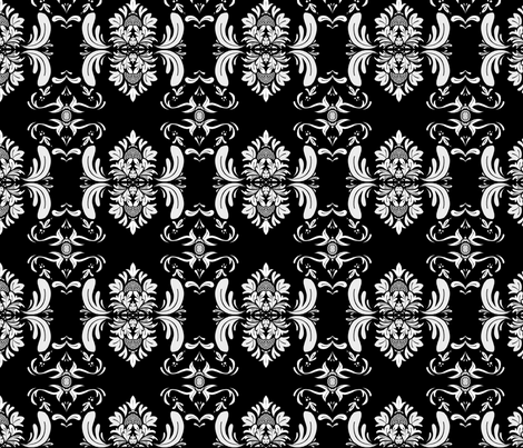 Crazy Litchi BW fabric by bluucat on Spoonflower - custom fabric
