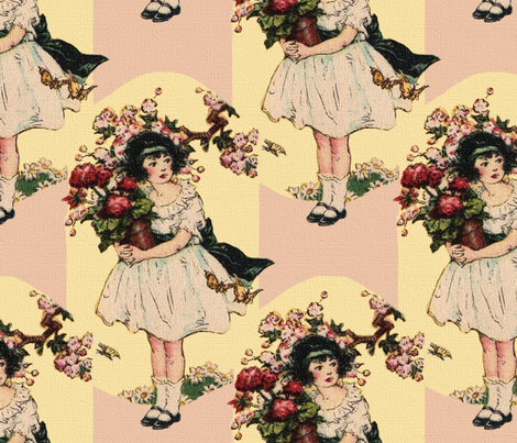 The Beautiful Rose ~Pink fabric by peacoquettedesigns on Spoonflower - custom fabric