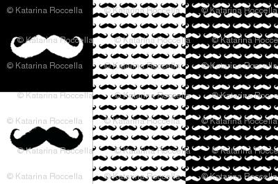 mustache ikat pillow cases