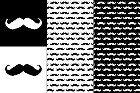 mustache ikat pillow cases fabric by katarina on Spoonflower - custom fabric