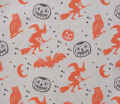 Bats and Jacks ~ Orange and Black on Cream