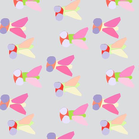 bugs grey fabric by tagkari on Spoonflower - custom fabric