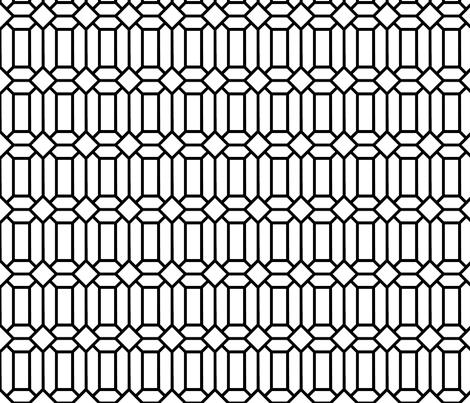 Tudor Glass White fabric by creative_merritt on Spoonflower - custom fabric