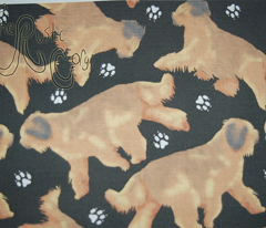 Trotting Briards and paws - black