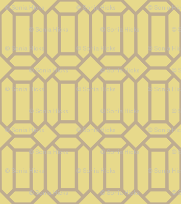 Gold Tudor Glass