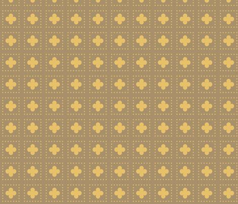 Bronze Tudor Rose Cutout fabric by creative_merritt on Spoonflower - custom fabric