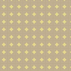 Gold Tudor Rose Cutout