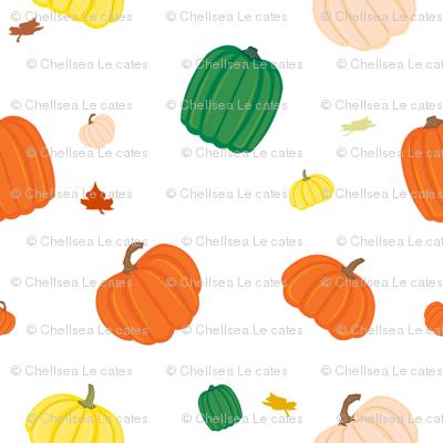 Pumpkin Patch in White