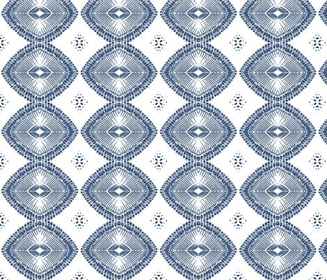 typewriter key chain (deep blue on white) fabric by wednesdaysgirl on Spoonflower - custom fabric