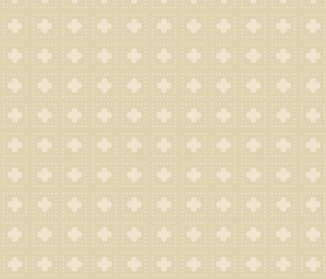 Nude Tudor Rose Cutout fabric by creative_merritt on Spoonflower - custom fabric