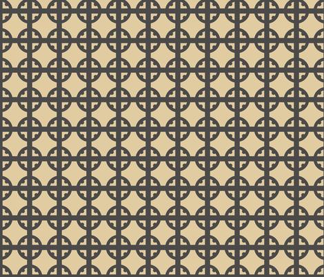 Monotone Tudor Circle fabric by creative_merritt on Spoonflower - custom fabric