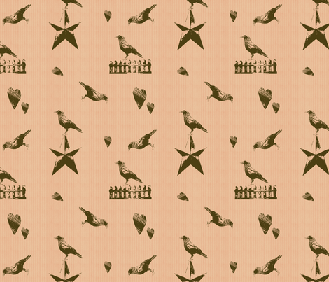 Primitive Crows fabric by forgotten_fortune on Spoonflower - custom fabric