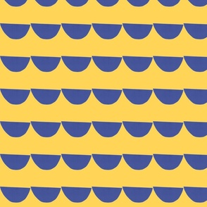 scales blue and mustard