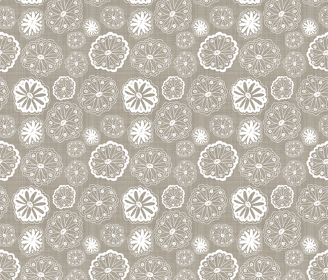Flower Doodles fabric by run_quiltgirl_run on Spoonflower - custom fabric