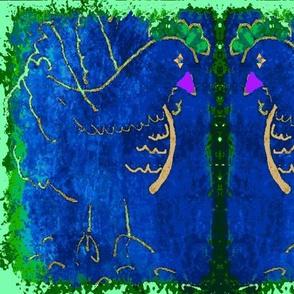 A Pair of Purple Beaked Hens