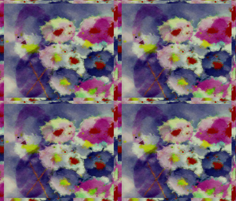 Shy Swan Watercolor sized at 4 fat quarters to 1 yard fabric by anniedeb on Spoonflower - custom fabric