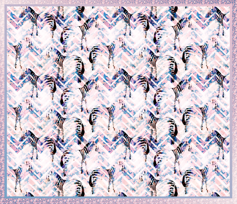 Zebras in bloom fabric by demigoutte on Spoonflower - custom fabric