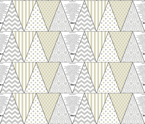 rustic wedding bunting fabric by risarocksit on Spoonflower - custom fabric