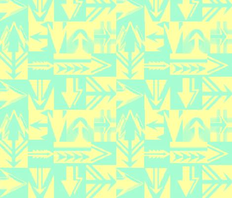TAHITI ARROWS fabric by bluevelvet on Spoonflower - custom fabric