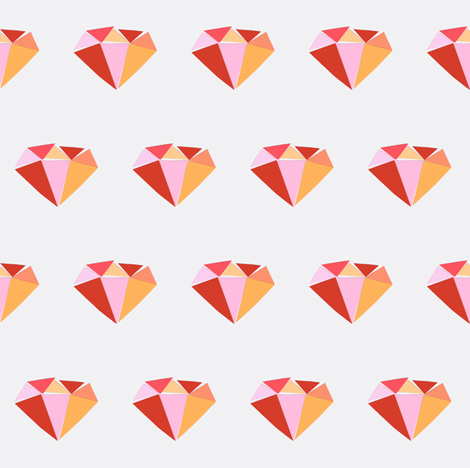 diamond-pink fabric by tagkari on Spoonflower - custom fabric