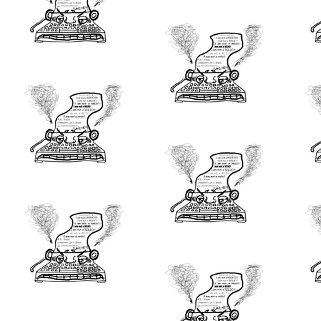Disgruntled Typewriter fabric by amy_g on Spoonflower - custom fabric