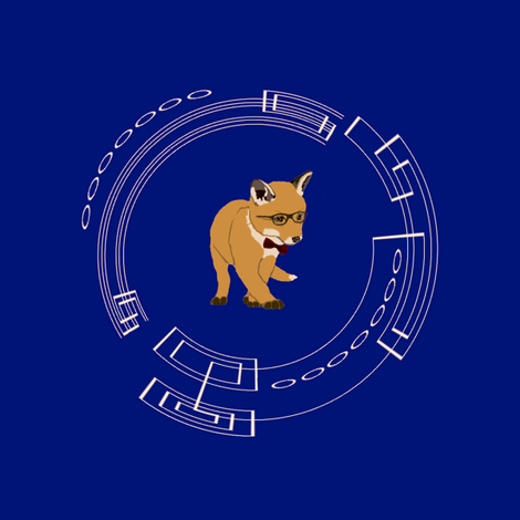 Whovian Fox |   Fan Art fabric by featheralchemist on Spoonflower - custom fabric
