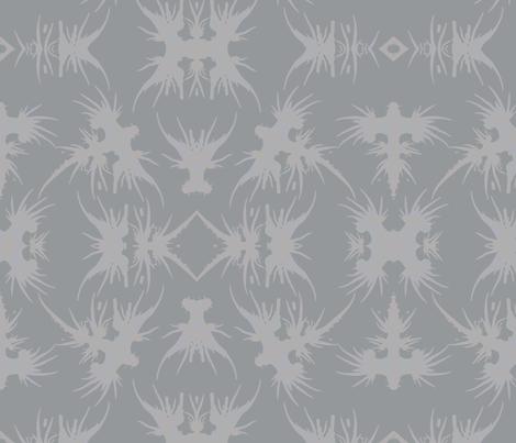 Tribal - Dragon Sea Slug Silhouettes fabric by starsofsobek on Spoonflower - custom fabric