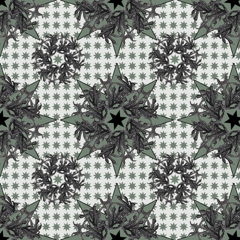claws and stars fabric by susiprint on Spoonflower - custom fabric