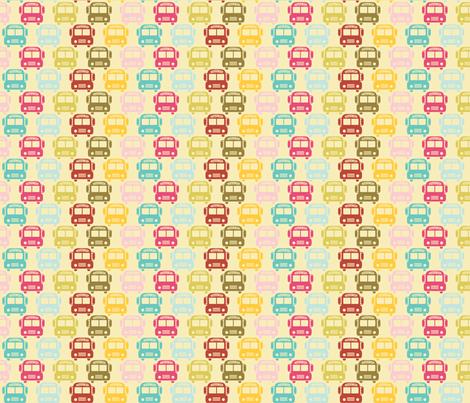 School_busses fabric by natasha_k_ on Spoonflower - custom fabric