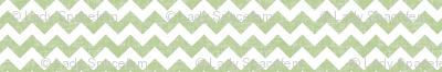 linen chevrons - sage green