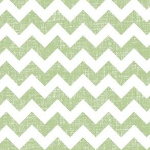 linen chevrons - sage green