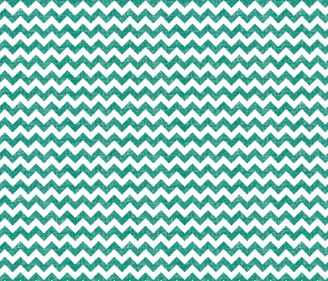 linen chevrons - teal green fabric by spacefem on Spoonflower - custom fabric