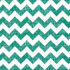 linen chevrons - teal green