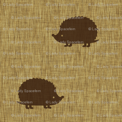 Hedgehogs on linen
