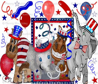 ELECTION DAY DONKIES VS ELEPHANTS