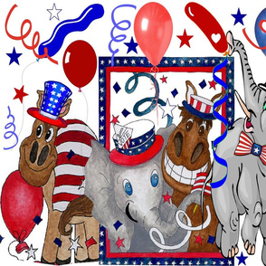ELECTION DAY DONKIES VS ELEPHANTS