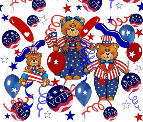 VOTING DAY fabric by bluevelvet on Spoonflower - custom fabric