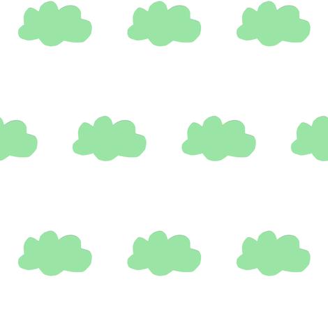 cloud-green fabric by tagkari on Spoonflower - custom fabric