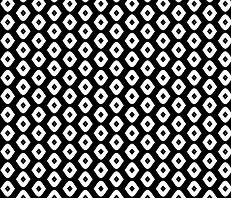 Diamond Girl (black & white) fabric by pattyryboltdesigns on Spoonflower - custom fabric