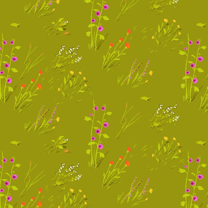 fabric_bound_sketchbook_cover_frog_meadow_green