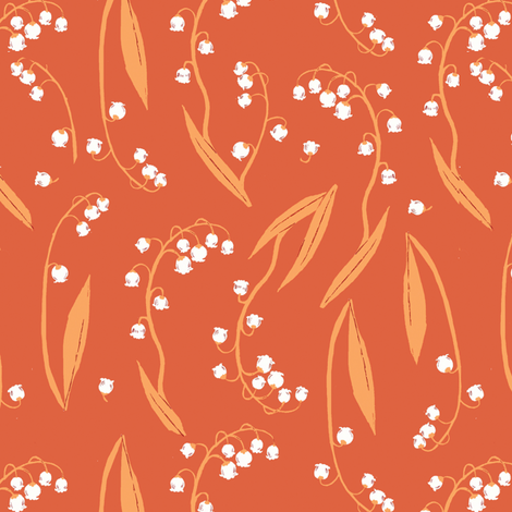 lily_orange fabric by heatherross on Spoonflower - custom fabric
