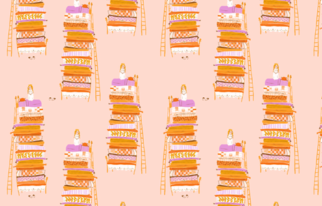princess_and_the_pea fabric by heatherross on Spoonflower - custom fabric