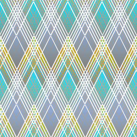 Harlequin Argyle blue fabric by joanmclemore on Spoonflower - custom fabric